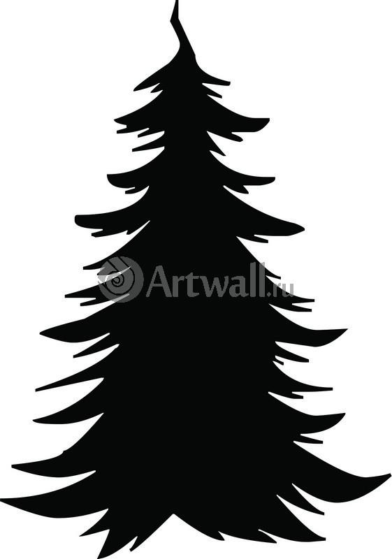 Наклейка «Ёлка из чернил»Новогодние<br><br>