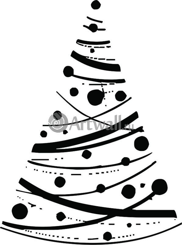 Наклейка «Ёлка из орбит»Новогодние<br><br>
