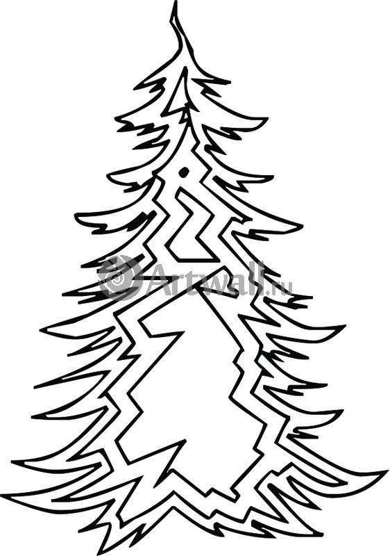 Наклейка «Ёлка из ломаных линий»Новогодние<br><br>