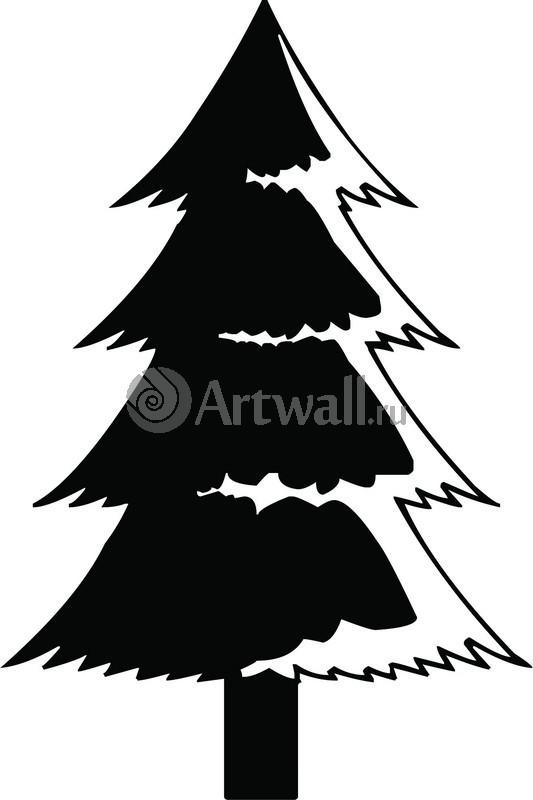 Наклейка «Пушистая ёлочка»Новогодние<br><br>