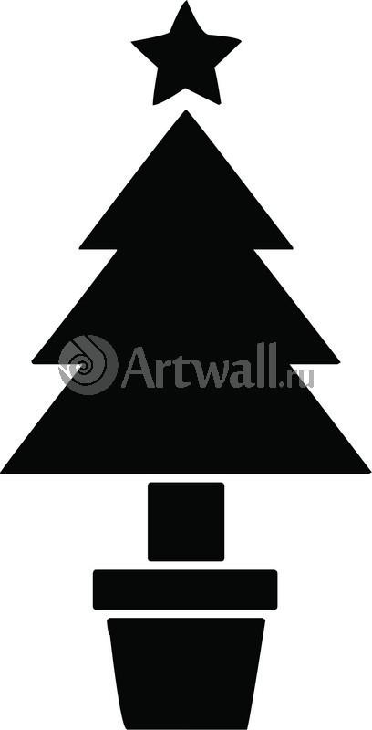 Наклейка «Ёлка в горшочке»Новогодние<br><br>