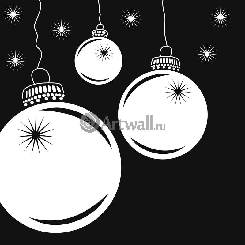 Наклейка «Три ёлочных шара»Новогодние<br><br>