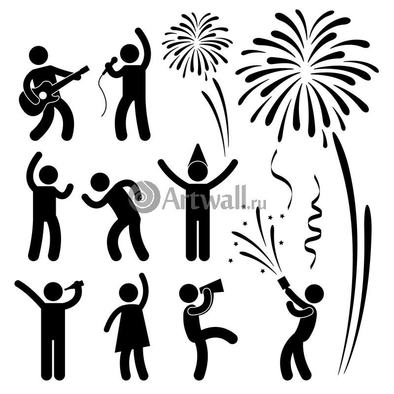 Наклейка «Новогодняя вечеринка»Новогодние<br><br>