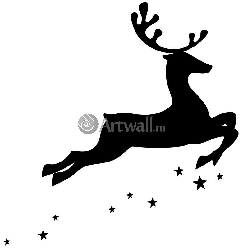 Наклейка «Звёздный олень»Новогодние<br><br>
