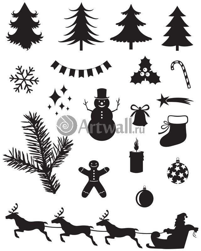 Наклейка «Новогодняя символика»Новогодние<br><br>