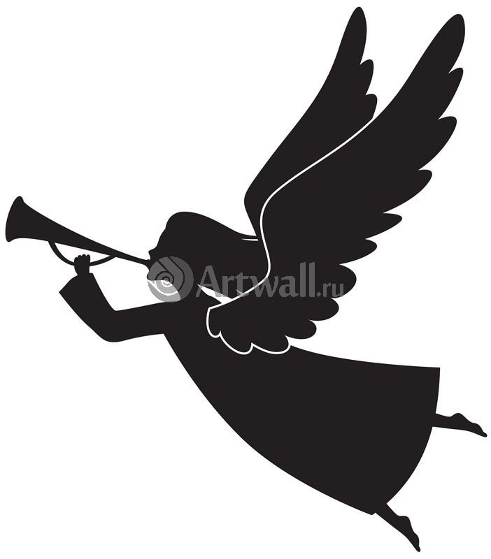 Наклейка «Ангел трубит»Новогодние<br><br>