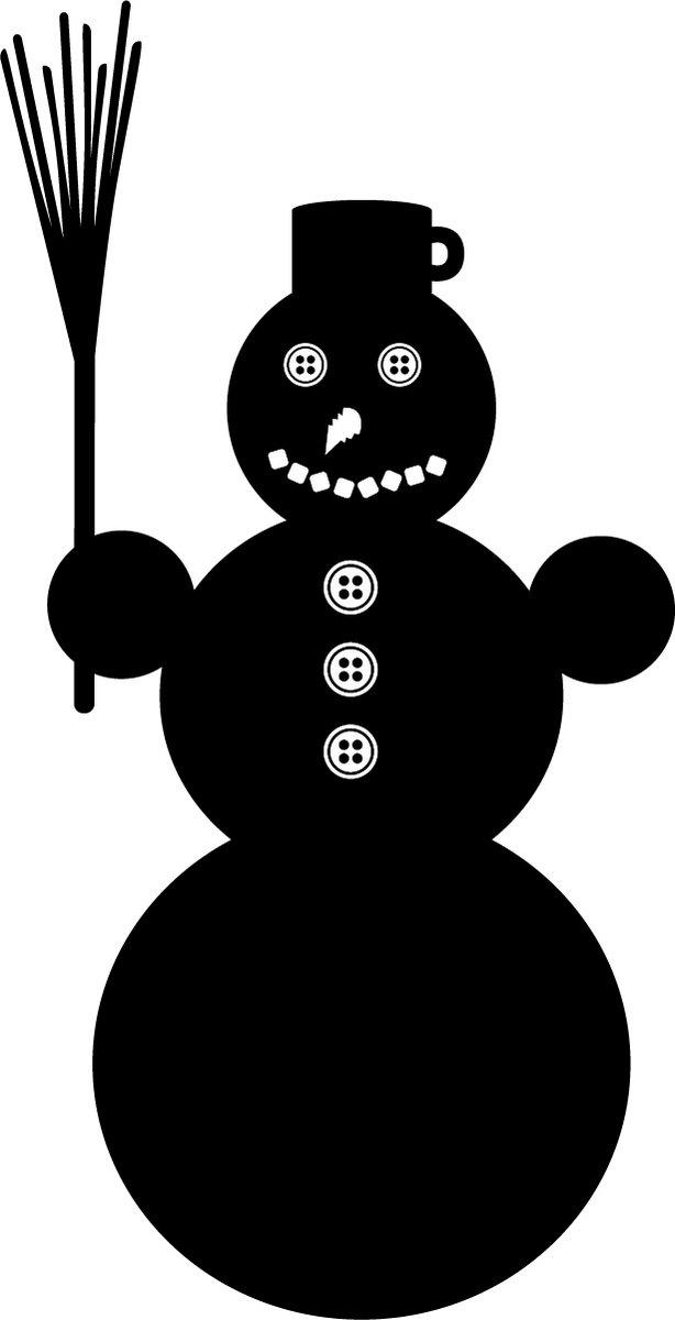 Наклейка «Чёрный снеговик»Новогодние<br><br>