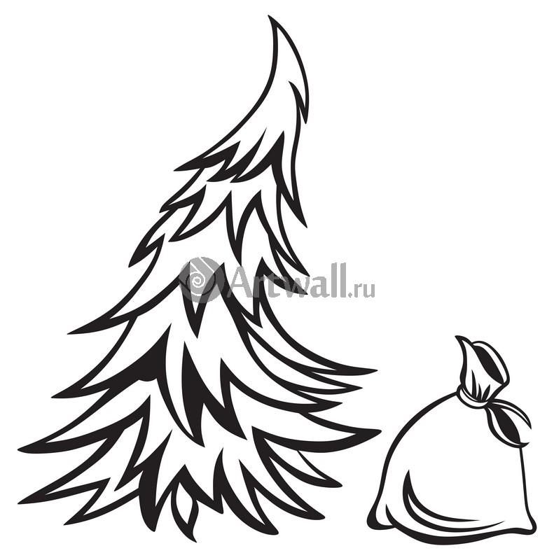 Наклейка «Подарок под ёлкой»Новогодние<br><br>