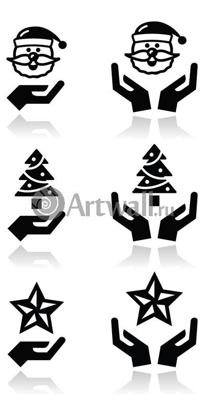 Наклейка «Новогодние символы»Новогодние<br><br>