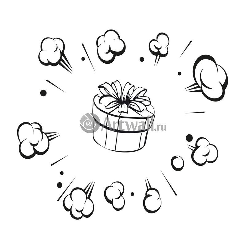 Наклейка «Взрывной подарок»Новогодние<br><br>