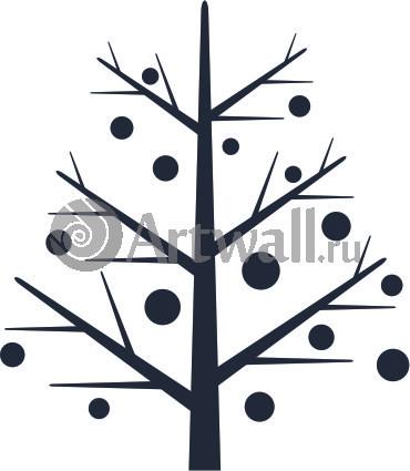 Наклейка «Дерево и шарики»Новогодние<br><br>