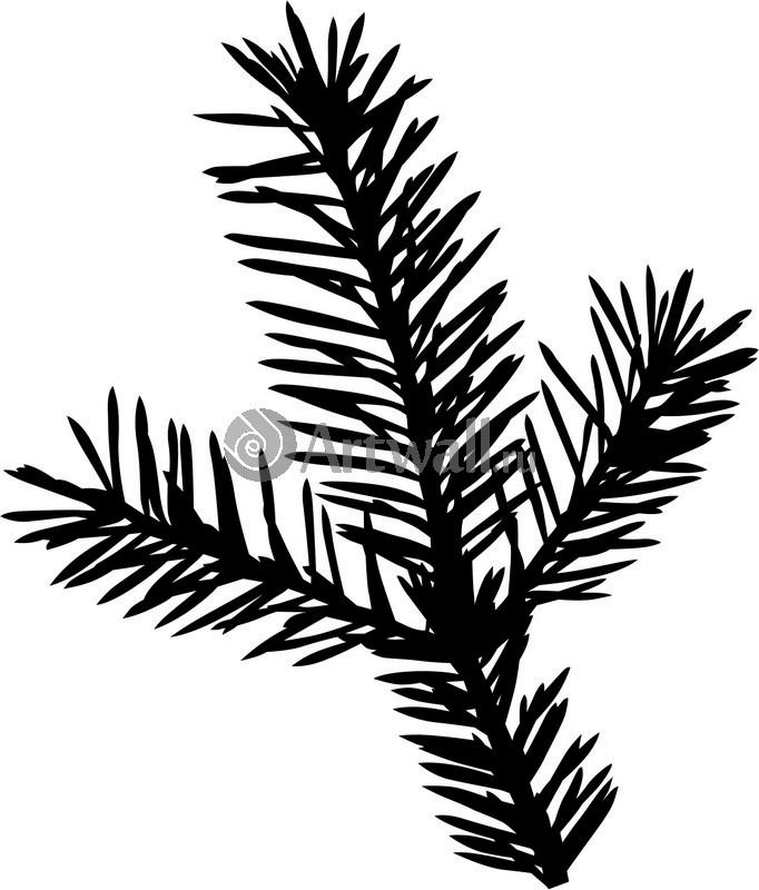Наклейка «Ветка ёлочки»Новогодние<br><br>