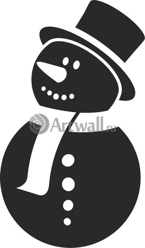 Наклейка «Снеговик в шляпе»Новогодние<br><br>