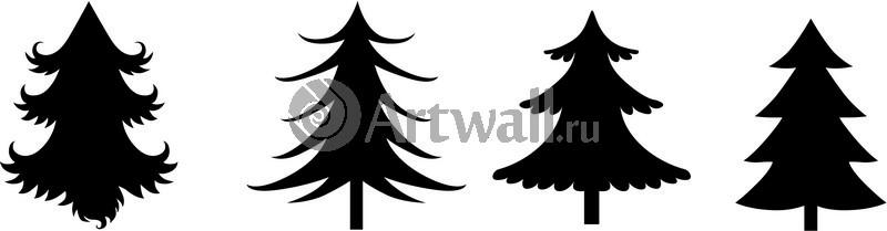 Наклейка «Четыре ёлочки»Новогодние<br><br>