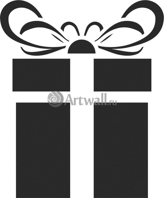 Наклейка «Подарок в коробке»Новогодние<br><br>