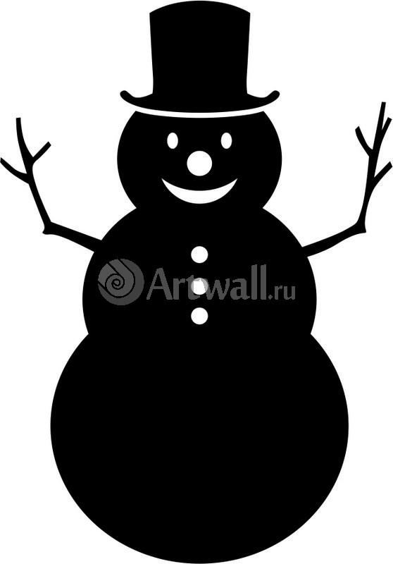 Наклейка «Радостный снеговик»Новогодние<br><br>