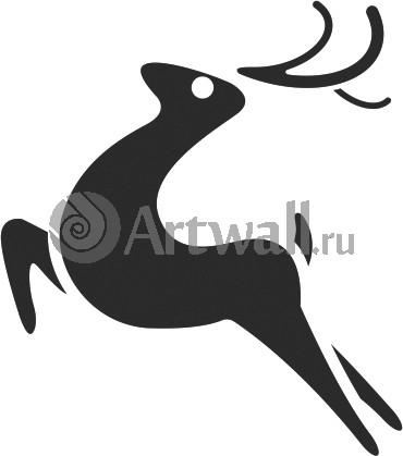 Наклейка «Прыгающий олень»Новогодние<br><br>