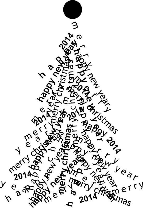 Наклейка «Ёлочка из надписей»