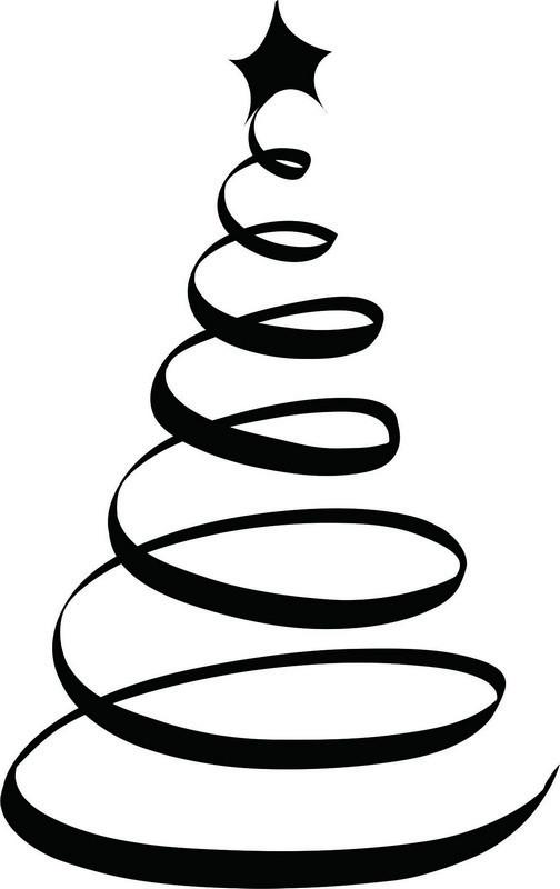 Наклейка «Спиральная ёлочка»Новогодние<br><br>