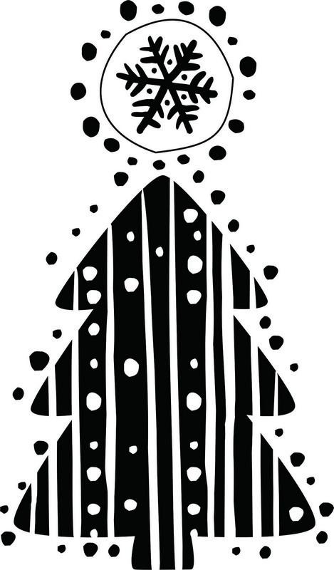 Наклейка «Ёлка и снежинка»Новогодние<br><br>
