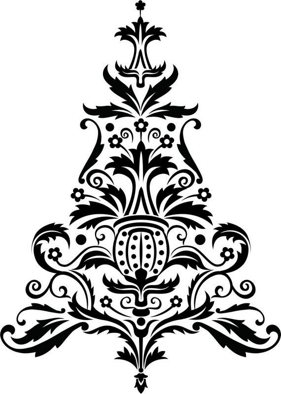 Наклейка «Ёлка-орнамент»Новогодние<br><br>