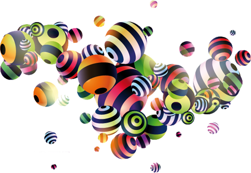 Наклейка «Полосатые шарики»Абстракция<br><br>