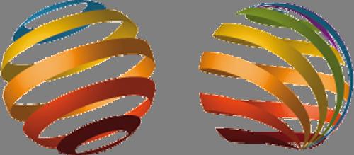 Наклейка «Два полосатых шара»Абстракция<br><br>