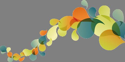 Наклейка «Уменьшающиеся листья»Абстракция<br>Цветная интерьерная наклейка на виниле. Яркая и красивая! Можно сделать любой размер. Трехслойная надежная упаковка. Доставим в любую точку России.<br>