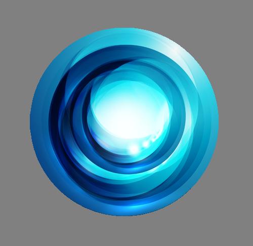 Наклейка  «Блики на голубом шаре»Абстракция<br><br>