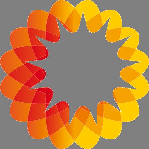 Наклейка «Оранжево-жёлтый круг»Абстракция<br><br>