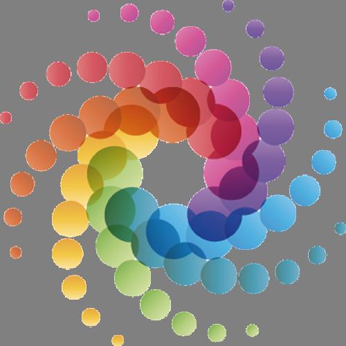 Наклейка «Спираль из кружков»Абстракция<br><br>