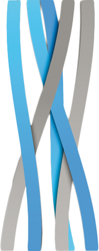 Наклейка «Серо-голубые ленты»Абстракция<br><br>