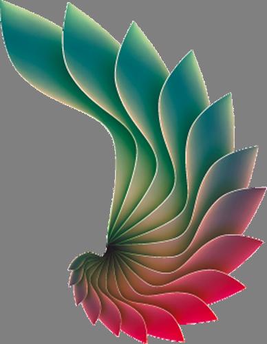 Наклейка «Крыло феникса»Абстракция<br>Цветная интерьерная наклейка на виниле. Яркая и красивая! Можно сделать любой размер. Трехслойная надежная упаковка. Доставим в любую точку России.<br>