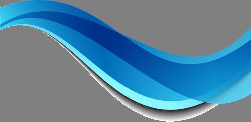 Наклейка «Голубая волна»Абстракция<br><br>