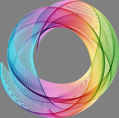 Наклейка «Цветные круги»Абстракция<br><br>