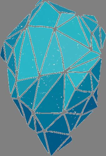 Наклейка «Голубой кристалл»Абстракция<br><br>