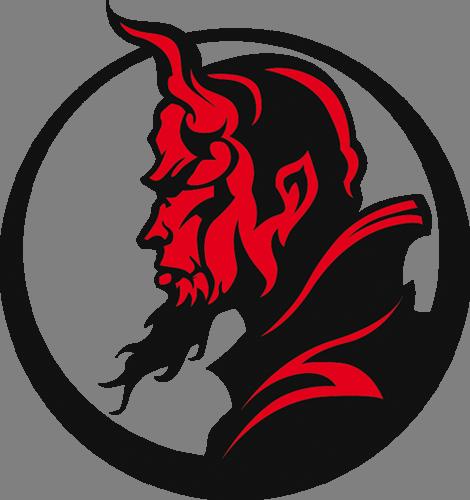 Наклейка «Профиль демона»