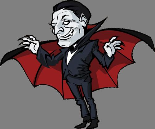 Наклейка «Дракула»