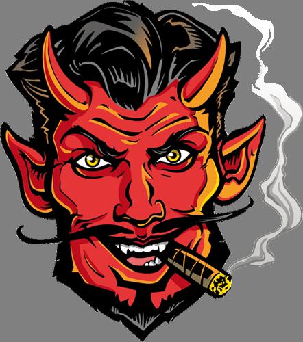 Наклейка «Демон с сигарой»Волшебные существа<br><br>