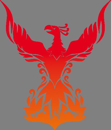 Наклейка  «Красно-оранжевый феникс»Волшебные существа<br><br>
