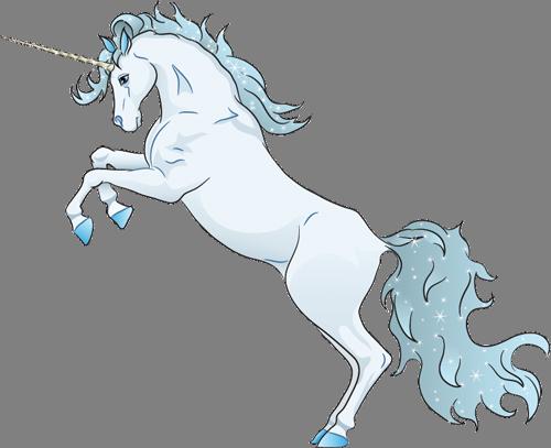 Наклейка «Белый единорог»Волшебные существа<br><br>