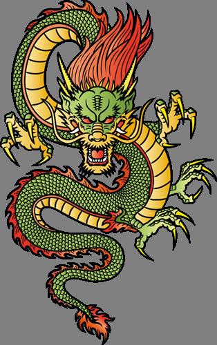 Наклейка «Китайский дракон»Волшебные существа<br><br>