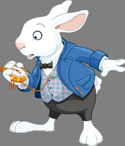 Наклейка «Кролик и часы»Волшебные существа<br>Цветная интерьерная наклейка на виниле. Яркая и красивая! Можно сделать любой размер. Трехслойная надежная упаковка. Доставим в любую точку России.<br>