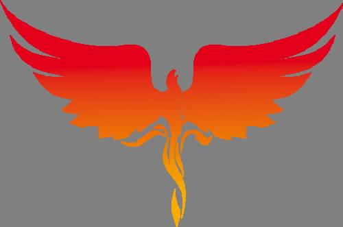 Наклейка «Парящий феникс»