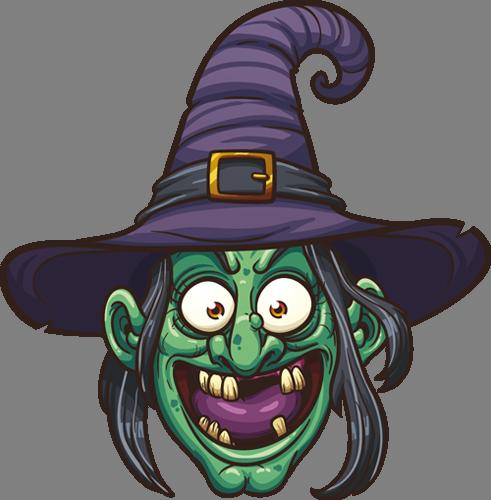 Наклейка «Голова ведьмы»
