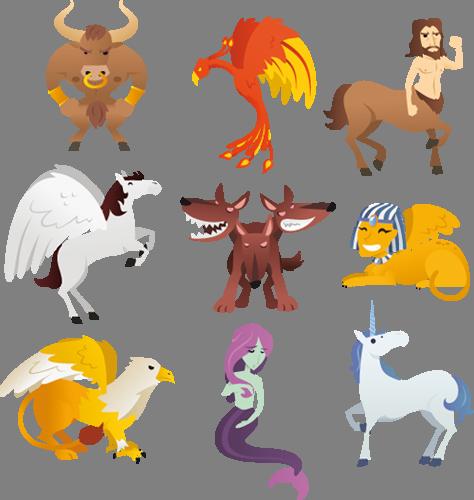 Наклейка «Мифические существа»Волшебные существа<br><br>