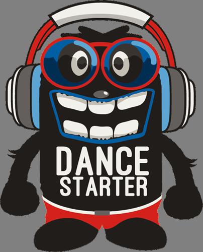 Наклейка «Начинающий танцор»