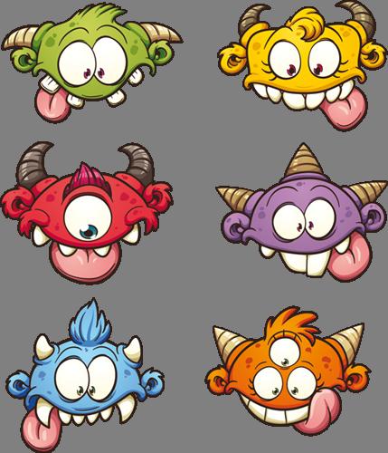 Наклейка «Шесть мордашек»Волшебные существа<br><br>