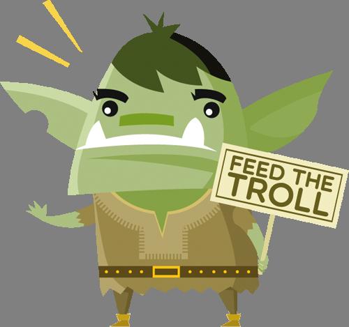 Наклейка «Накорми тролля»Волшебные существа<br><br>