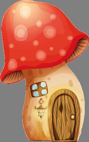 Наклейка «Домик-гриб»